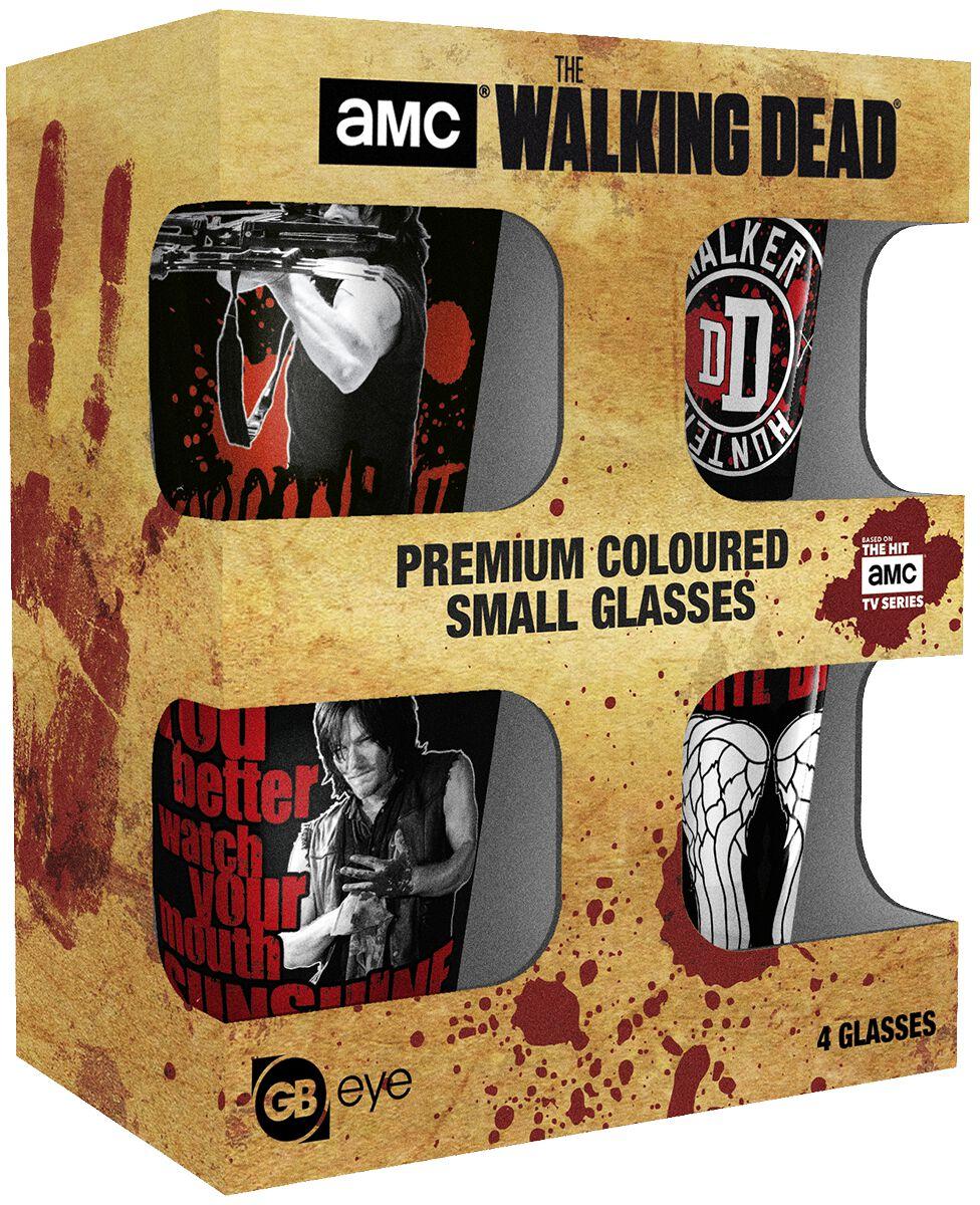 Image of   The Walking Dead Daryl Dixon Shotglas, sæt multifarvet