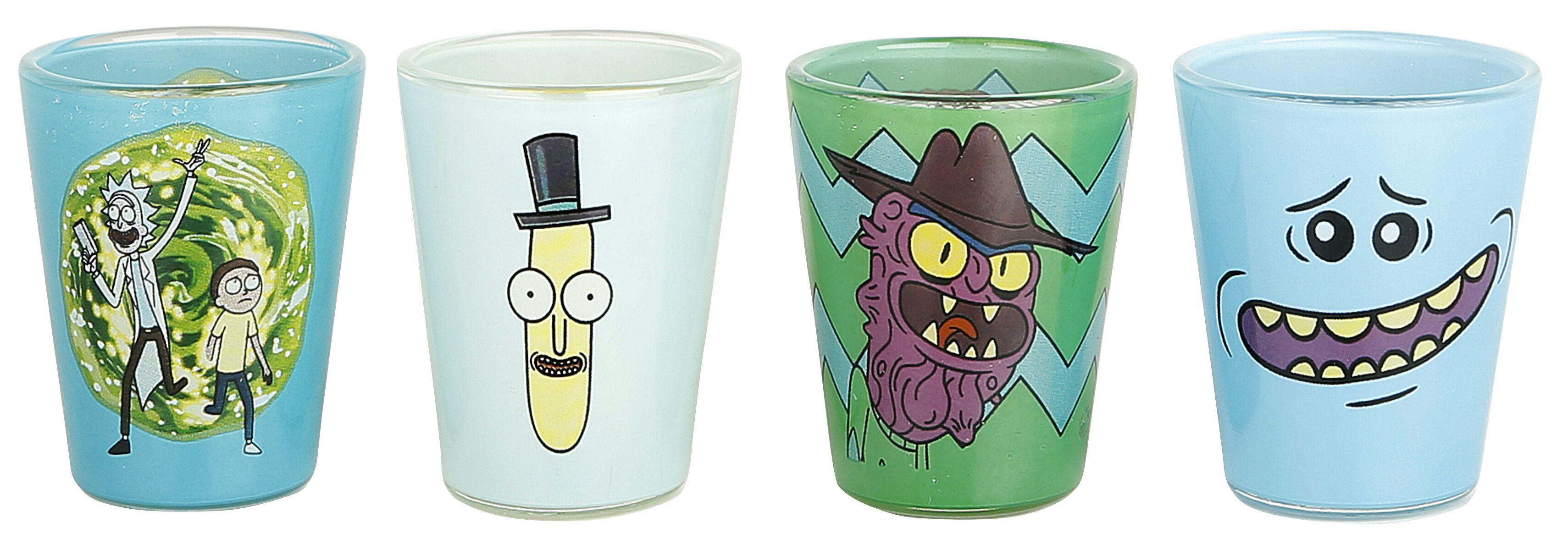 Image of   Rick And Morty Mix Shotglas, sæt multifarvet