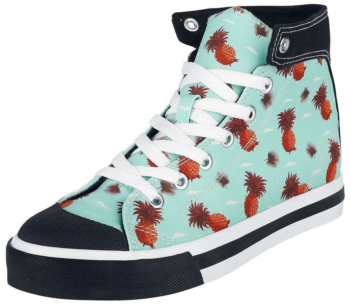 Sneakers für Frauen - Pussy Deluxe Pineapple Dream Sneaker Sneaker blau  - Onlineshop EMP