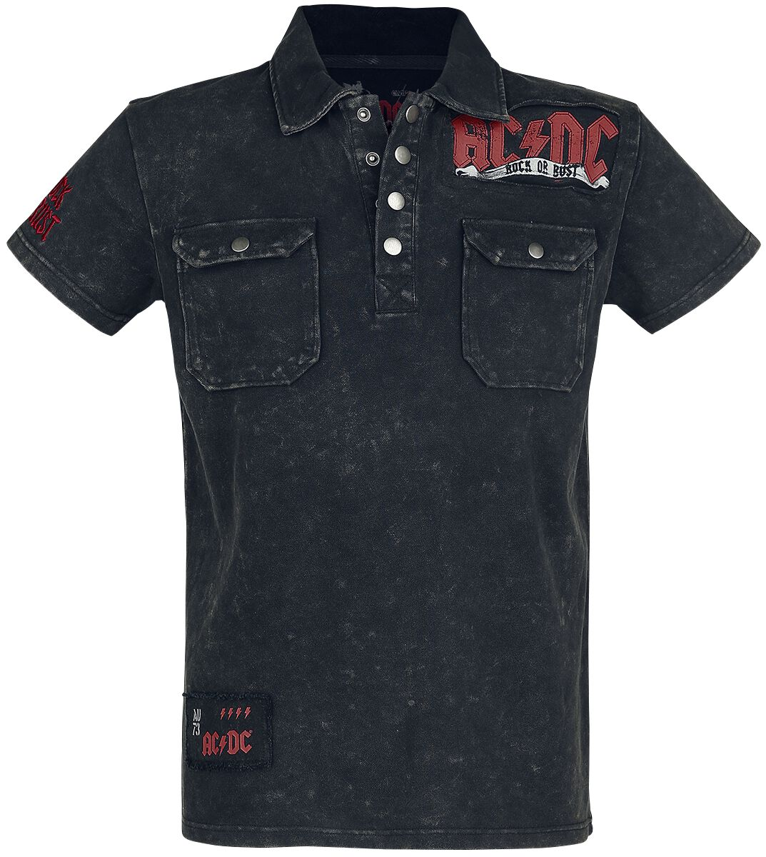 Image of   AC/DC EMP Signature Collection Polotrøje grå