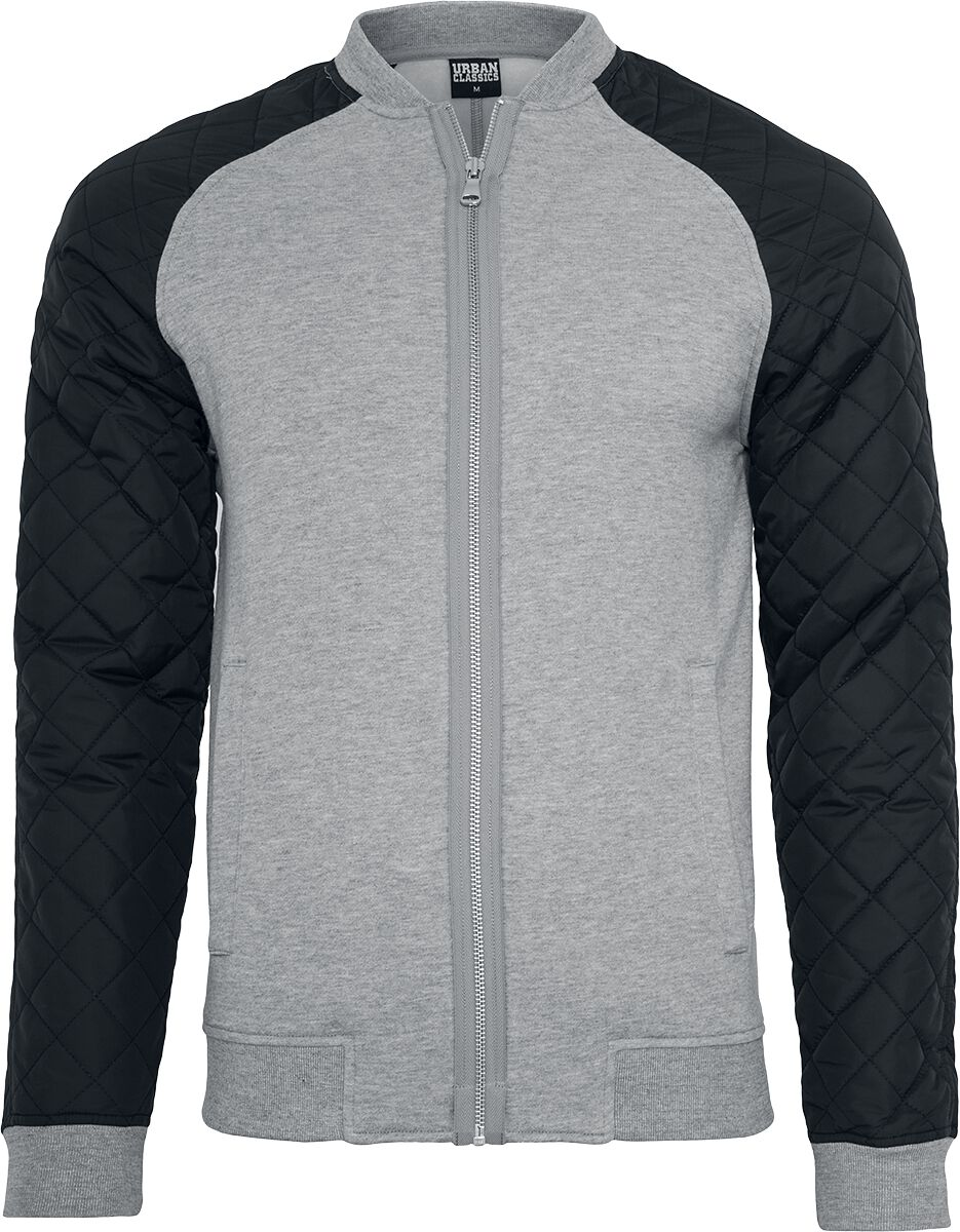 Image of   Urban Classics Diamond Nylon Sweatjacket Jakke grå-sort
