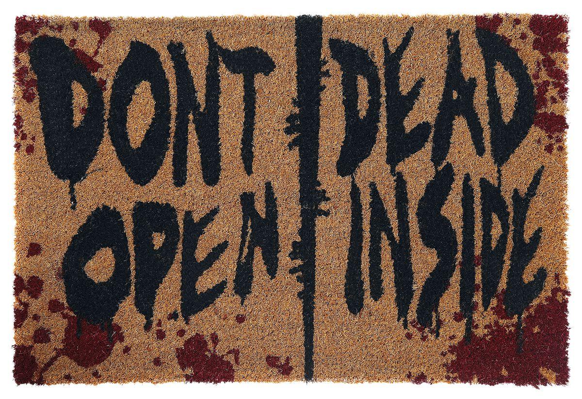 Image of   The Walking Dead Don't Open Dead Inside Dørmåtte multifarvet