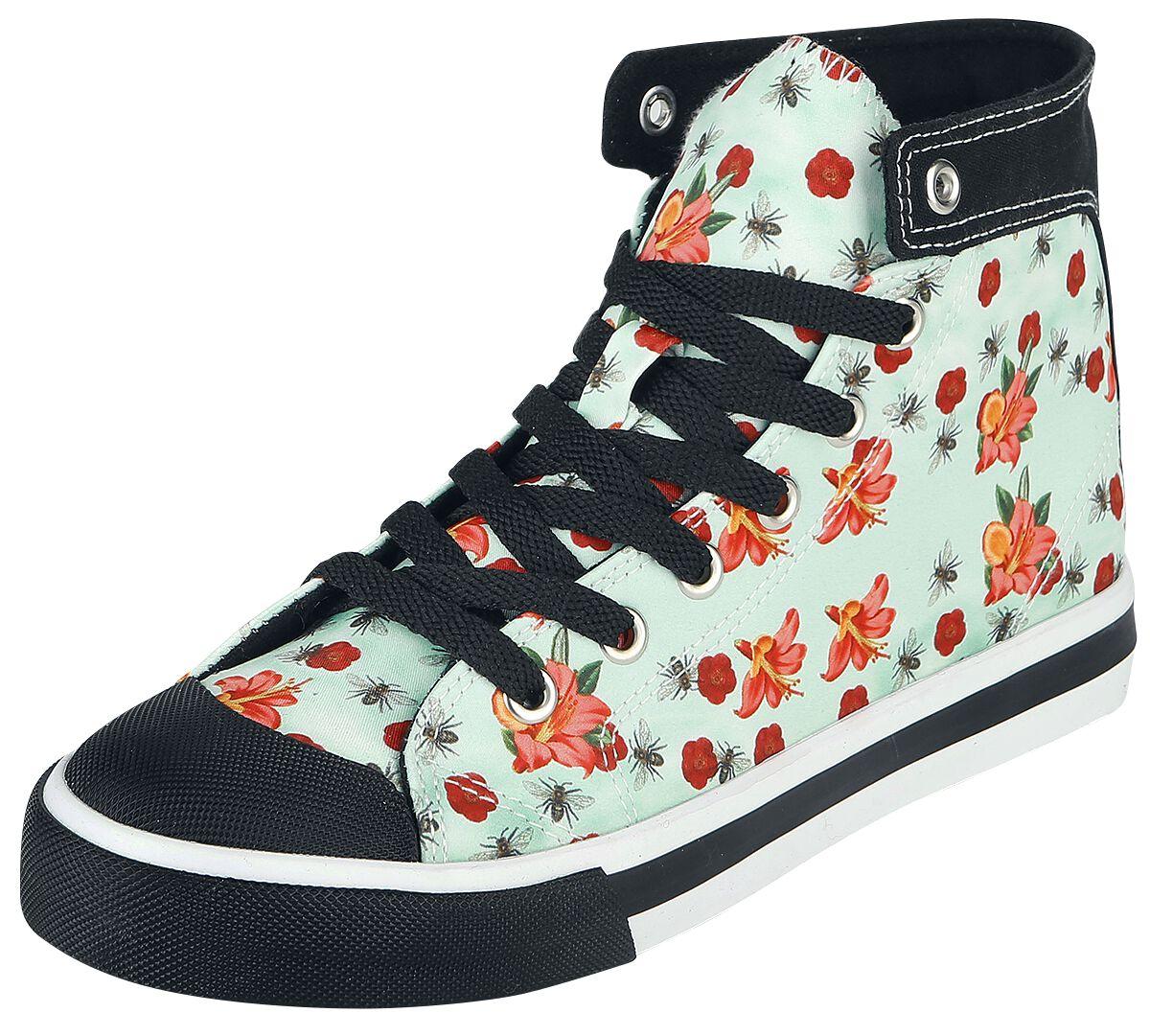 Sneakers für Frauen - Pussy Deluxe Flowers and Bees Sneaker Sneaker hellblau  - Onlineshop EMP