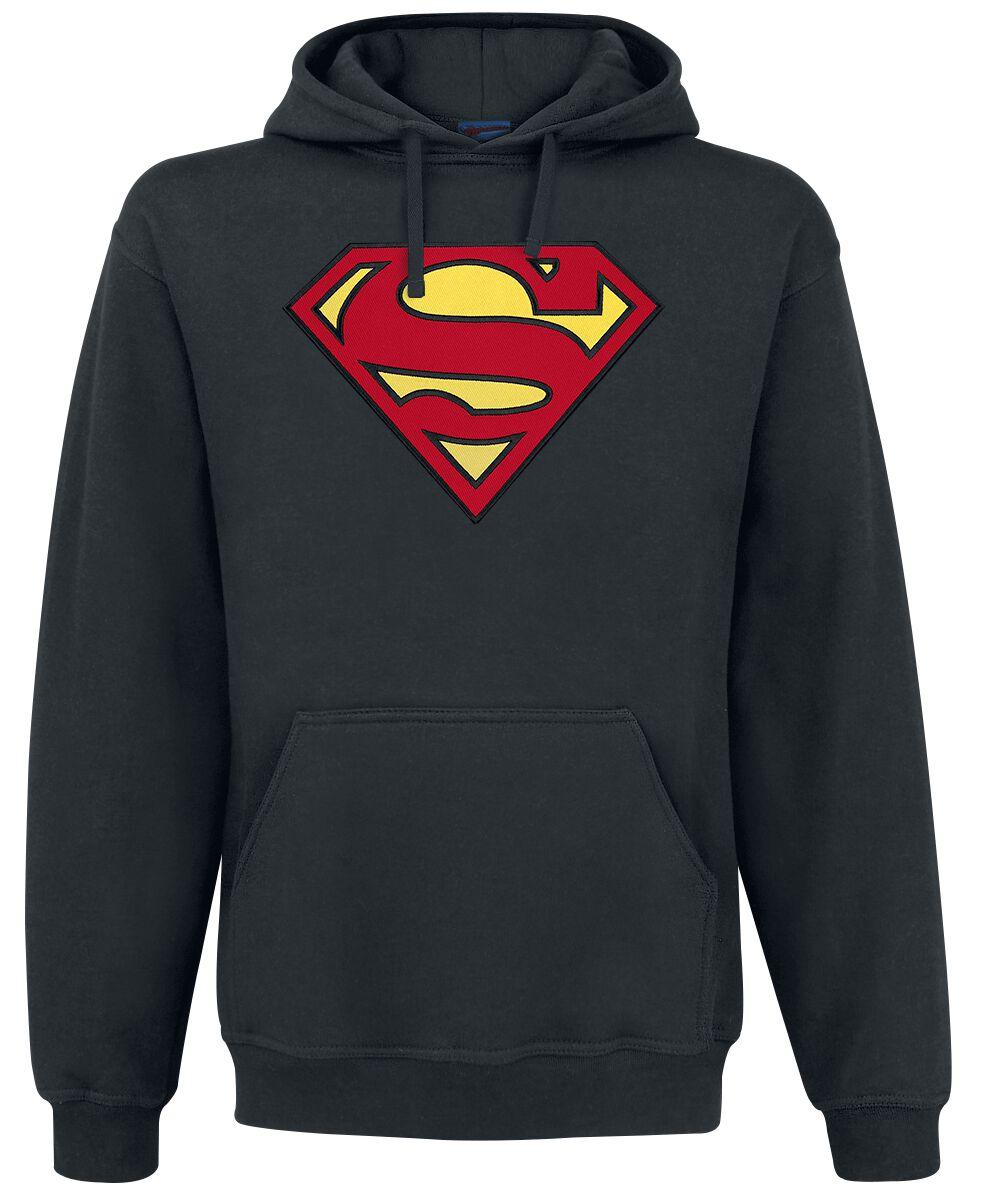 Merch dla Fanów - Bluzy z kapturem - Bluza z kapturem Superman Logo Bluza z kapturem czarny - 367768