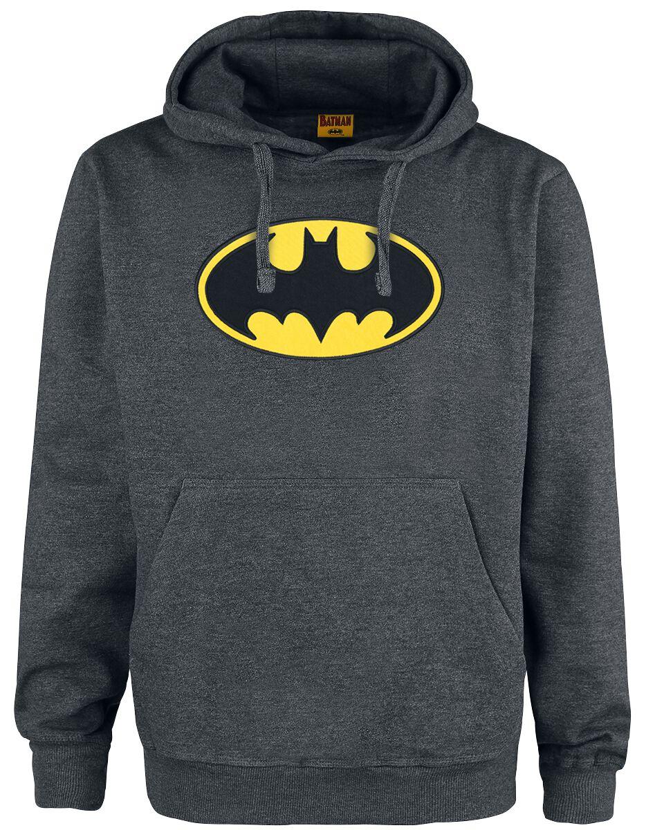 Merch dla Fanów - Bluzy z kapturem - Bluza z kapturem Batman Logo Bluza z kapturem odcienie szarego - 367770