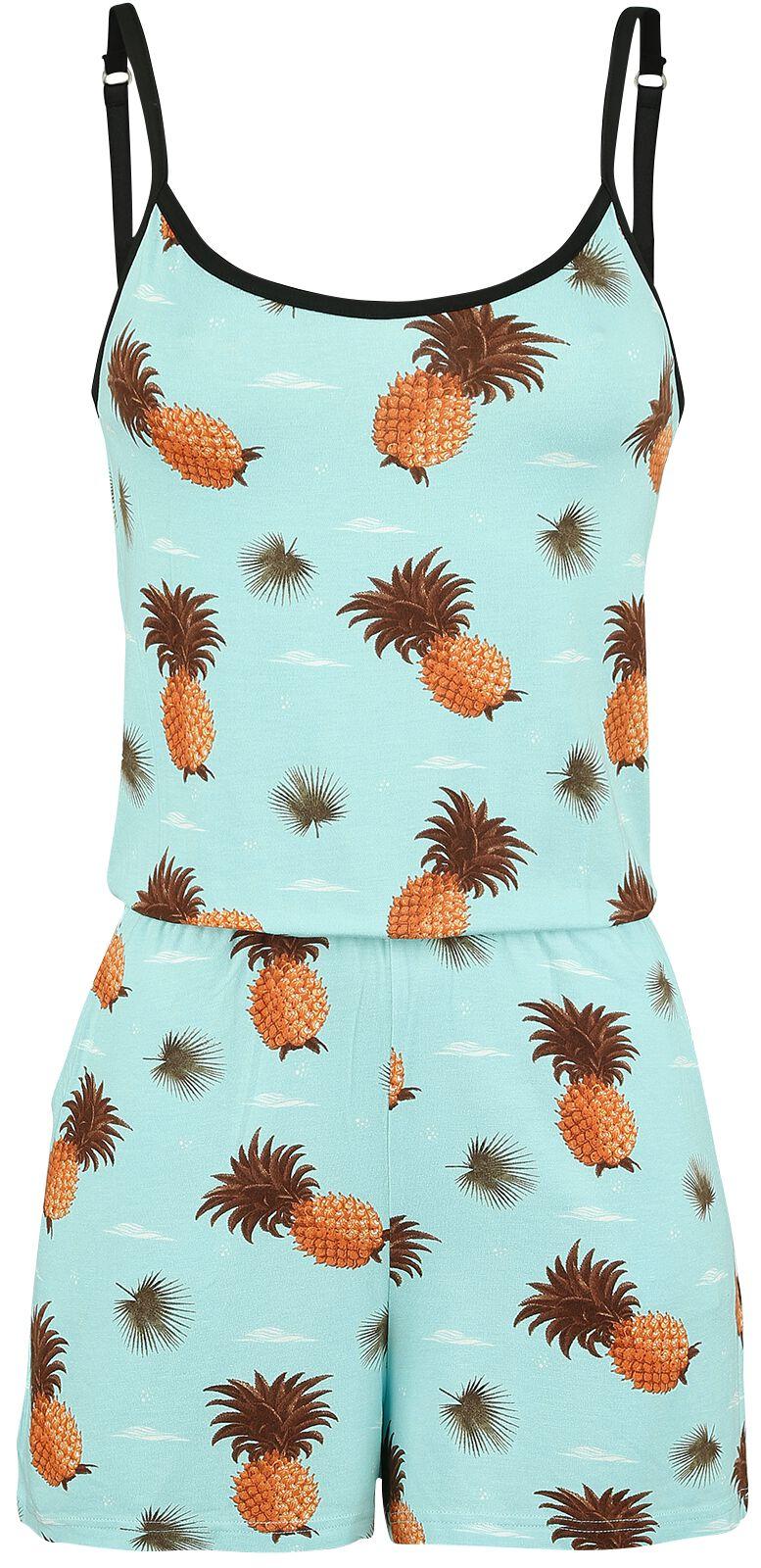 Image of   Pussy Deluxe Pineapple Dream Jumpsuit Jumpsuit blå