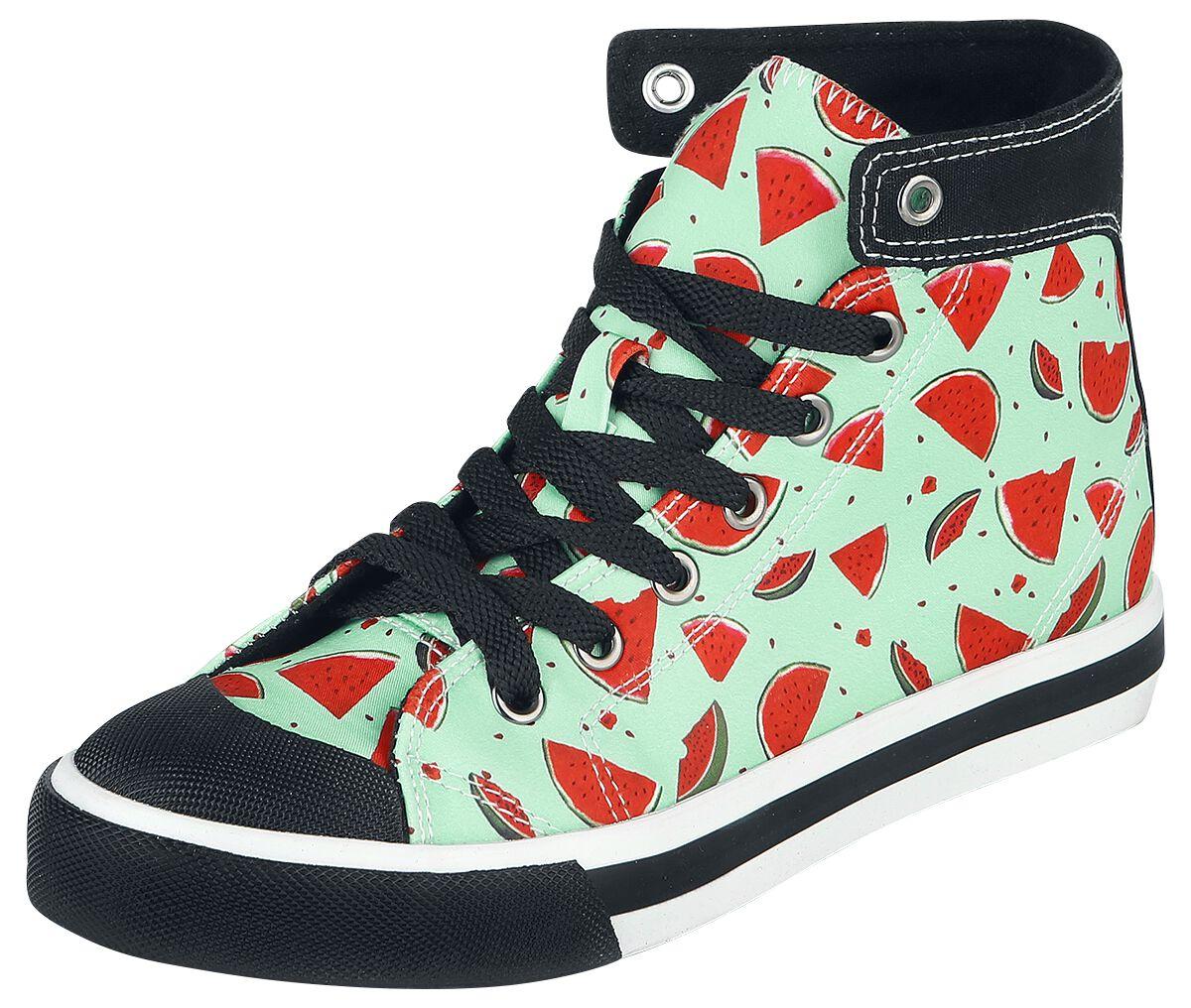 Sneakers für Frauen - Pussy Deluxe Lovely Watermelon Sneaker Sneaker high hellblau  - Onlineshop EMP