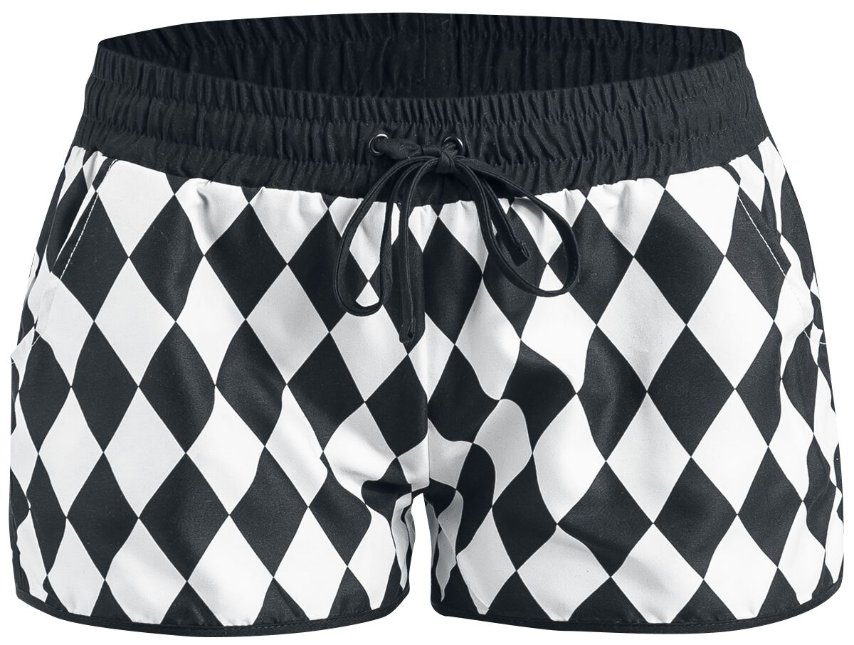 Pussy Deluxe Rhombus Shorts Girl-Hot-Pant schwa...