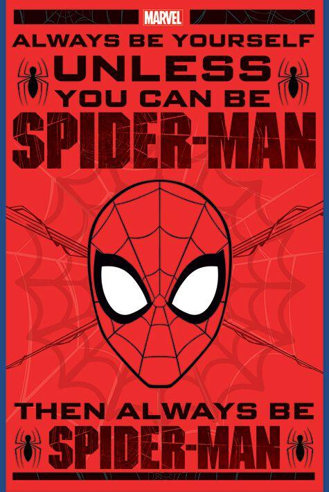 Image of   Spiderman Always be yourself Plakat multifarvet
