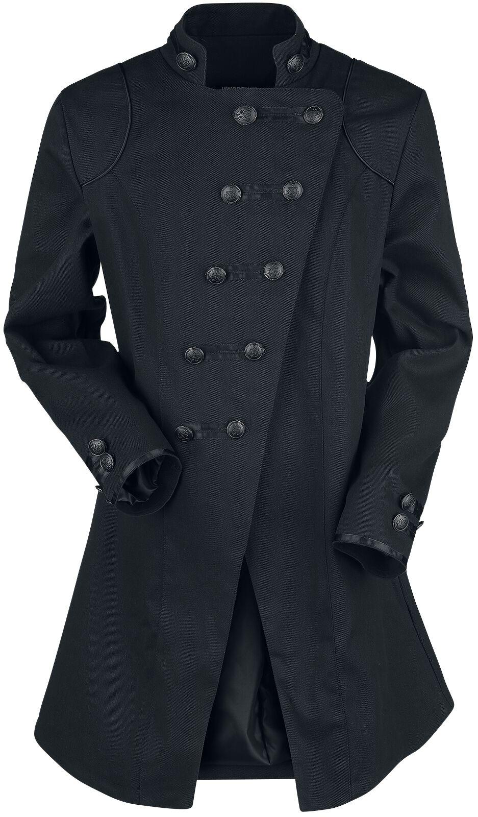 Marki - Płaszcze - Płaszcz Jawbreaker Gothic Mantel Płaszcz czarny - 367884
