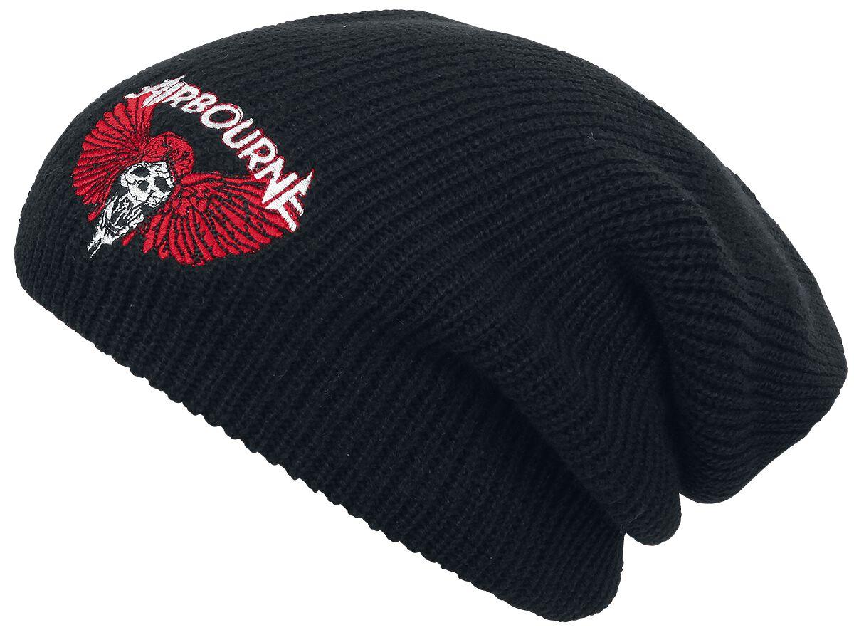 Zespoły - Czapki i Kapelusze - Beanie Airbourne Rock 'N Roll Skull Beanie czarny - 367950