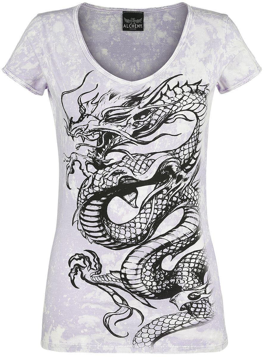 Image of   Alchemy England Dragon Bleach Girlie trøje lilla