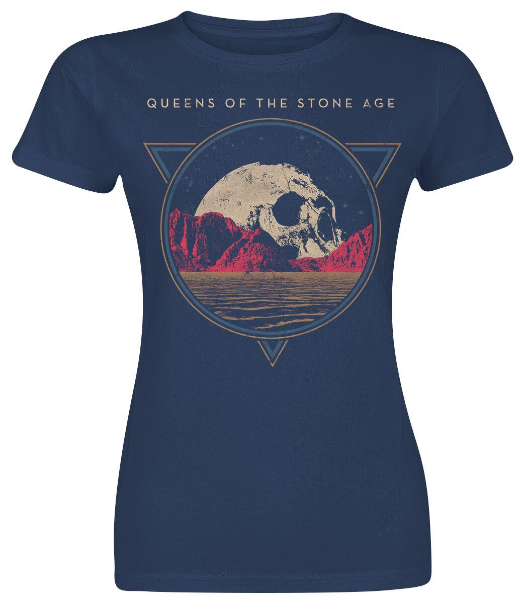 Queens Of The Stone Age Planet Skull Koszulka damska granatowy