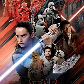 Star Wars Episode 8 - The Last Jedi - Red Montage Poster multicolore