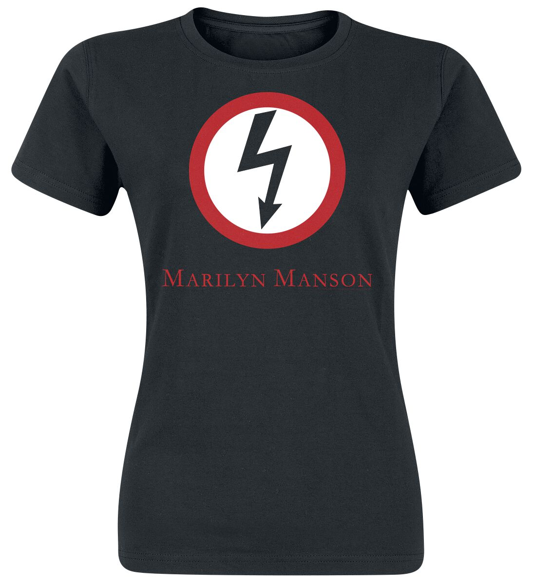 Zespoły - Koszulki - Koszulka damska Marilyn Manson Classic Bolt Koszulka damska czarny - 368097
