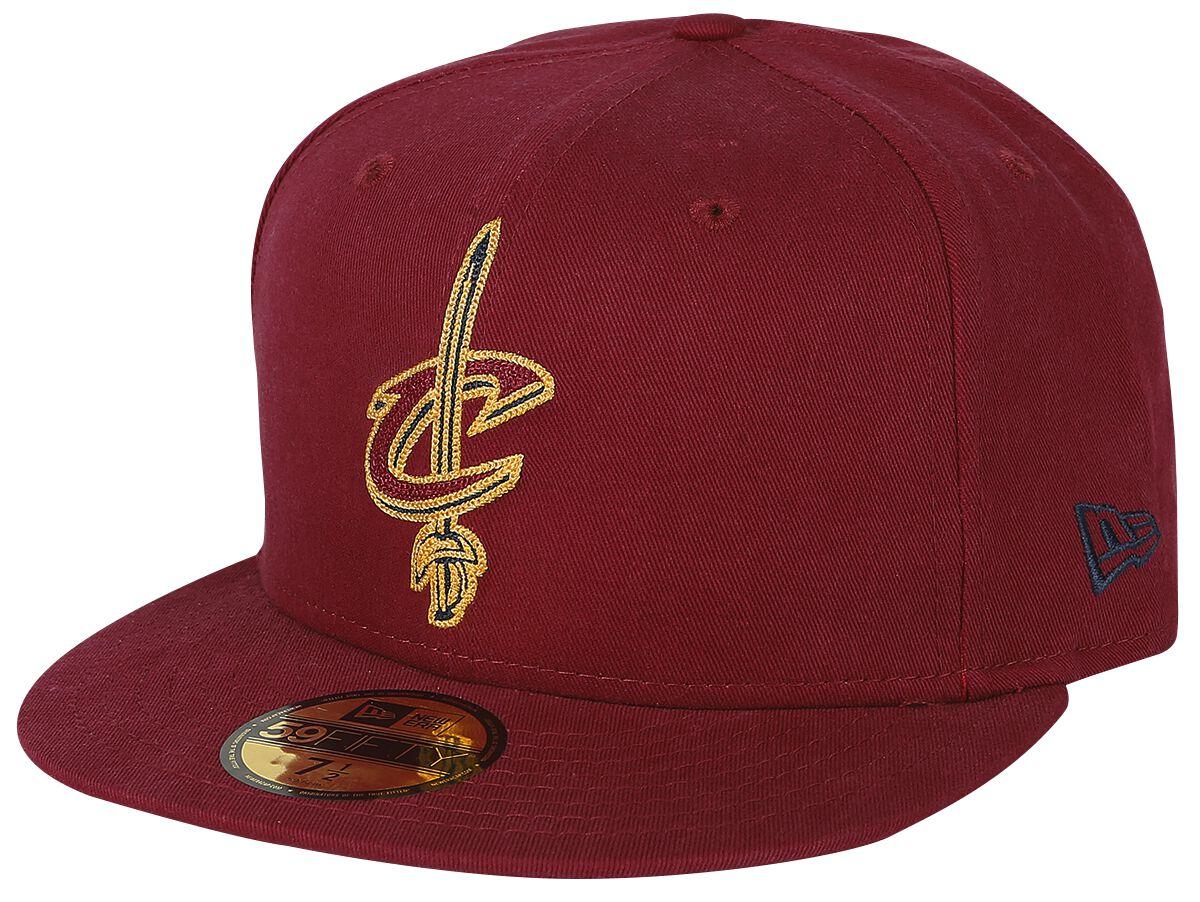 Basics - Czapki i Kapelusze - Czapka New Era New Era 59Fifty Chain Stitch NBA Cleveland Cavaliers Czapka New Era czerwony - 368100