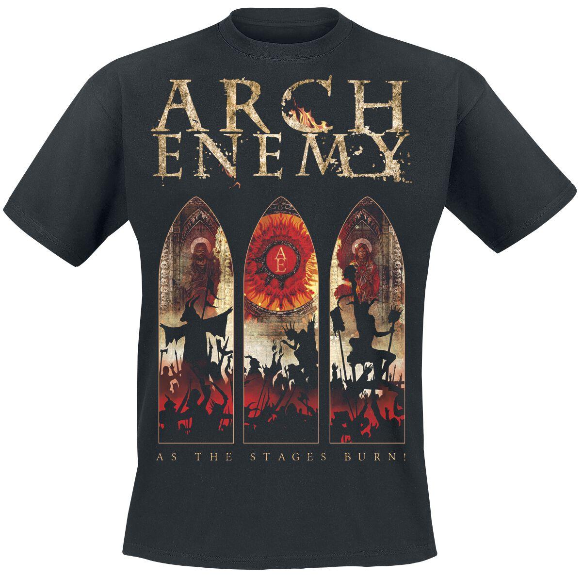 Zespoły - Koszulki - T-Shirt Arch Enemy As The Stages Burn! - Tour 2017 T-Shirt czarny - 368115