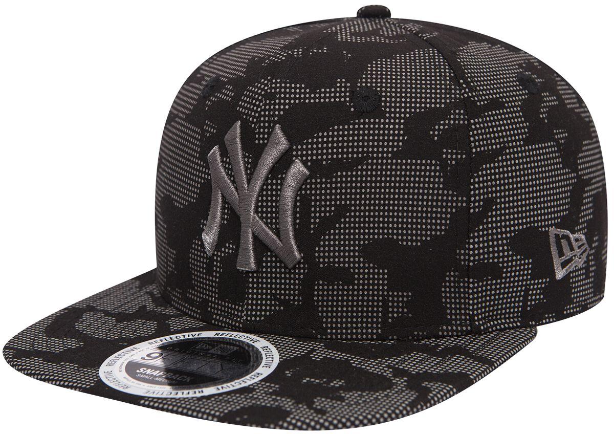 Basics - Czapki i Kapelusze - Czapka New Era New Era 9Fifty Night Time Reflective MLB New York Yankees Czapka New Era szary/czarny - 368119