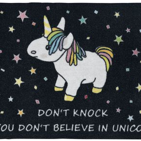 Unicorn Don't knock Paillasson multicolore