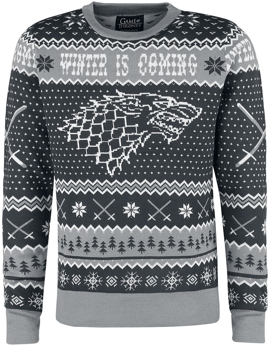 Image of   Game Of Thrones Winter Is Coming Pullover grå