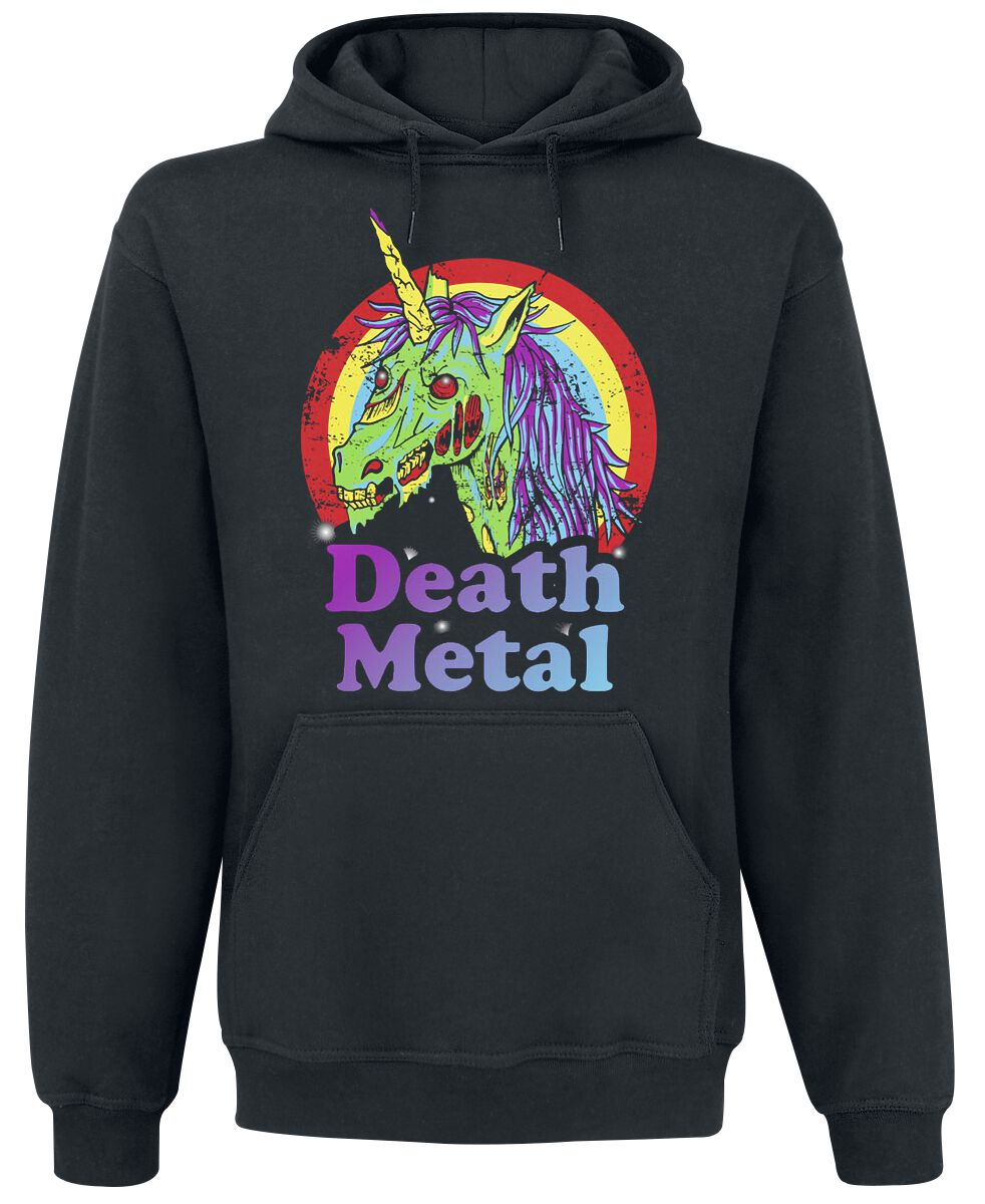 Fun Shirts - Bluzy z kapturem - Bluza z kapturem Death Metal Bluza z kapturem czarny - 368218