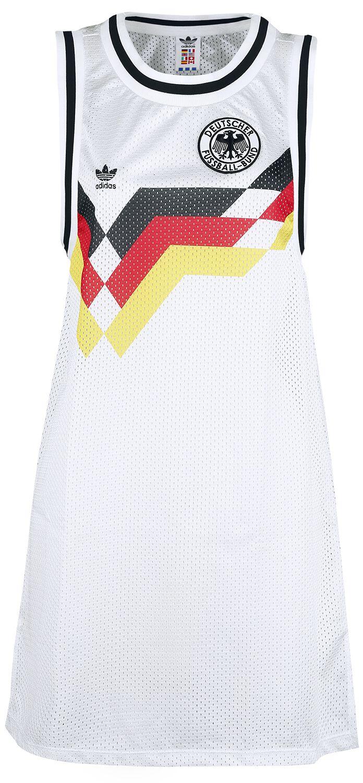 Image of   Adidas Tyskland Fodboldtrøje Kjole Kjole hvid