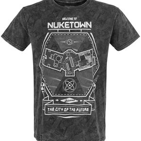 Call Of Duty Welcome To Nuketown T-shirt gris foncé