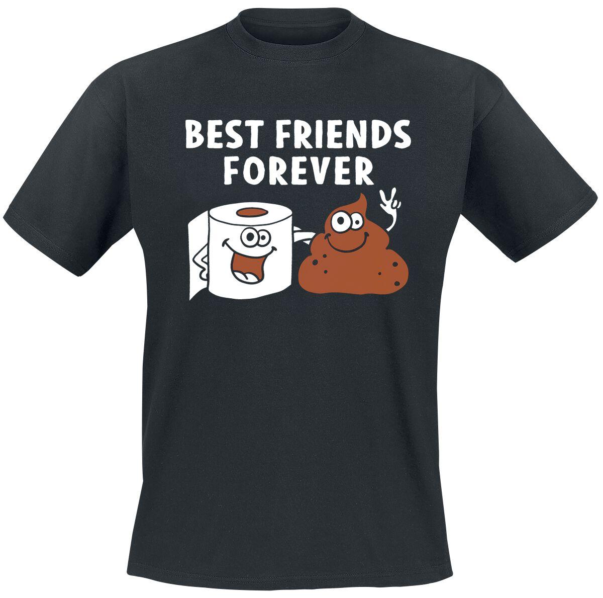 Fun Shirts - Koszulki - T-Shirt Best Friends Forever T-Shirt czarny - 368296