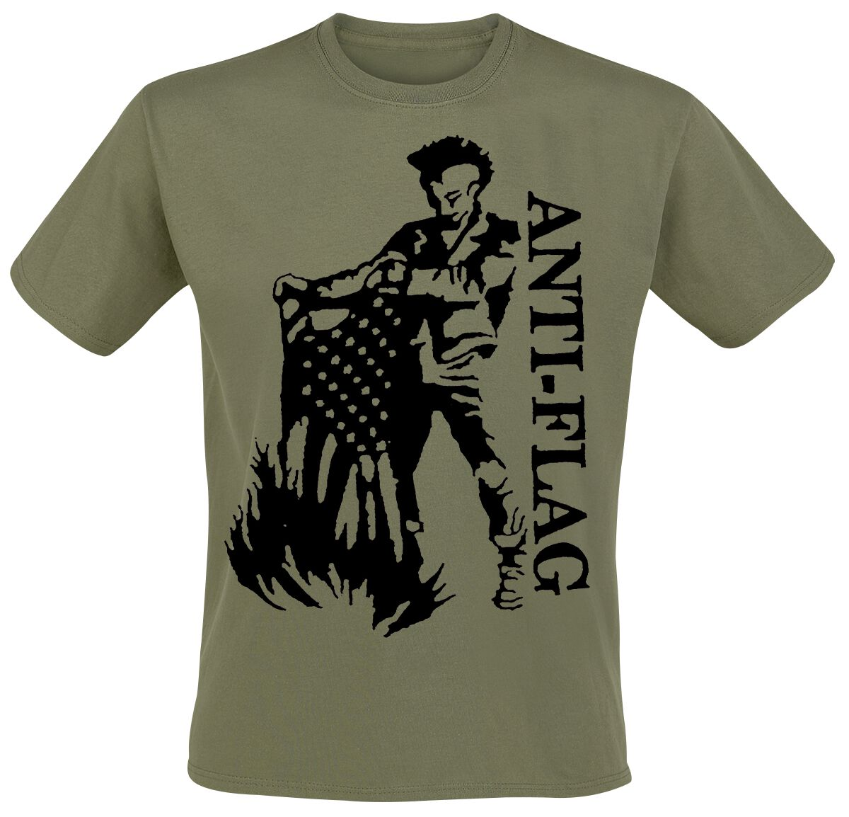 Zespoły - Koszulki - T-Shirt Anti-Flag Flagburner T-Shirt oliwkowy - 368310