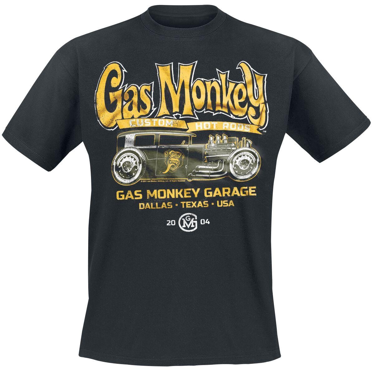 Gas Monkey Garage Green Hot Rod T-Shirt schwarz