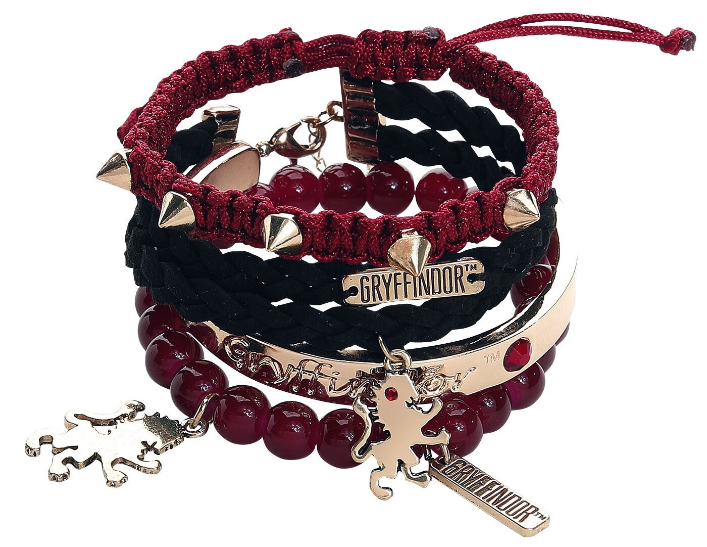 Armbaender für Frauen - Harry Potter Gryffindor Arm Party Armband Set multicolor  - Onlineshop EMP