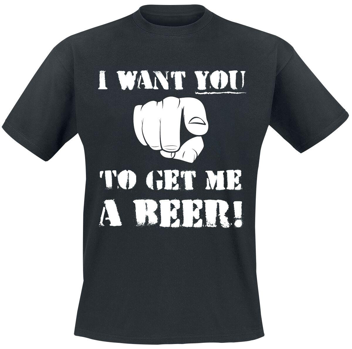 Fun Shirts - Koszulki - T-Shirt I Want You To Get Me A Beer! T-Shirt czarny - 368393