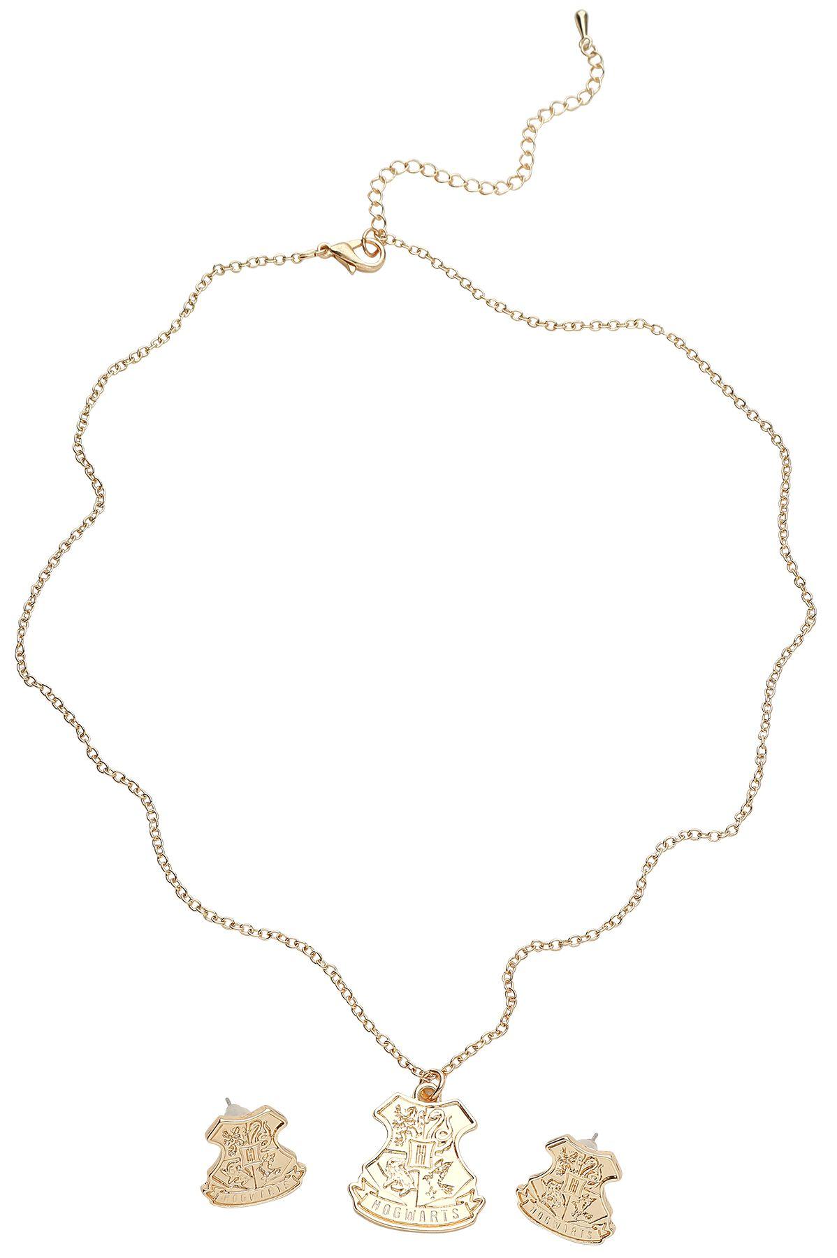 Marki - Biżuteria - komplety - Komplet biżuterii Harry Potter Hogwarts Komplet biżuterii złoty - 368408