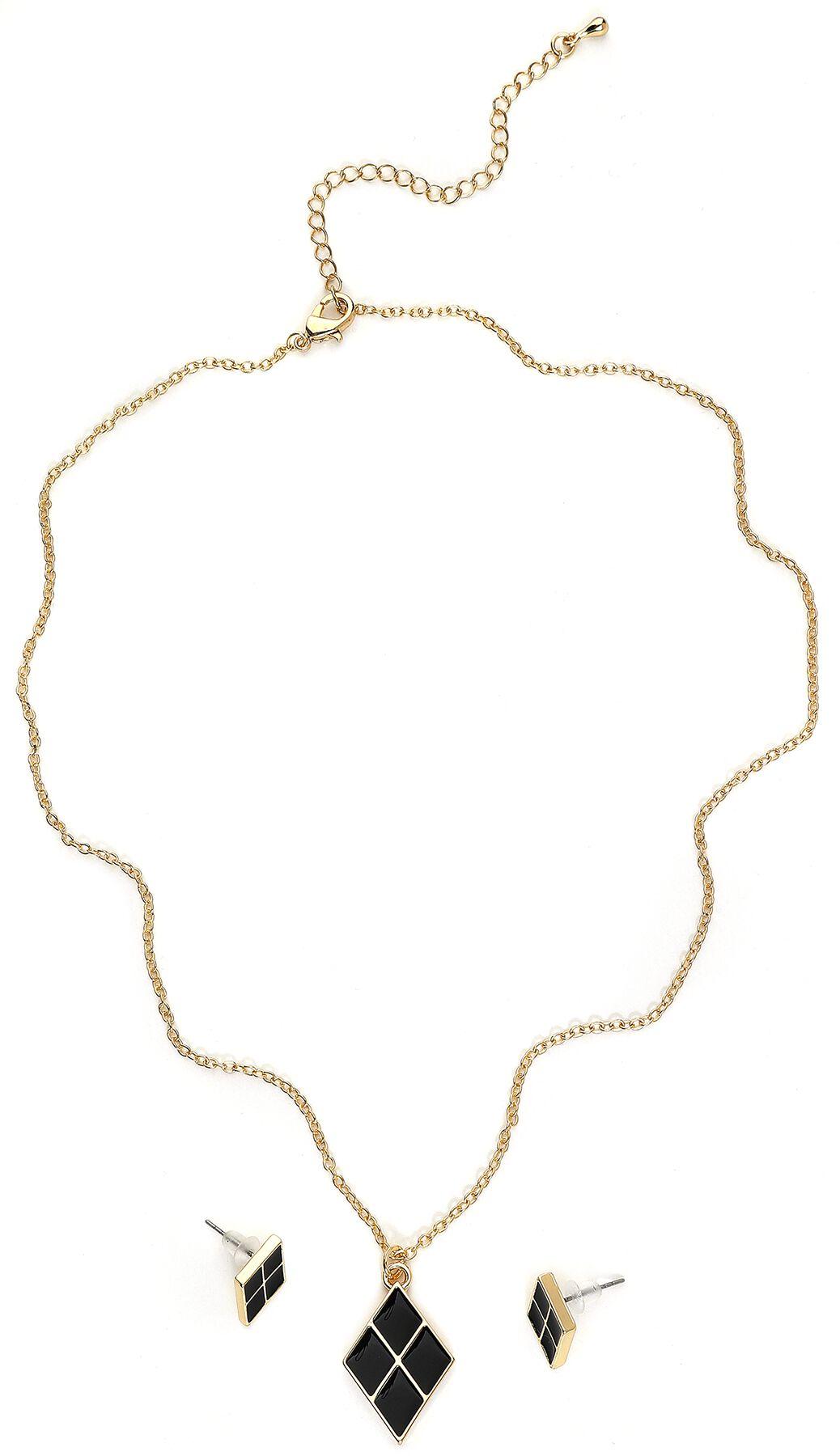 Marki - Biżuteria - komplety - Komplet biżuterii Harley Quinn Diamond Komplet biżuterii złoty - 368409