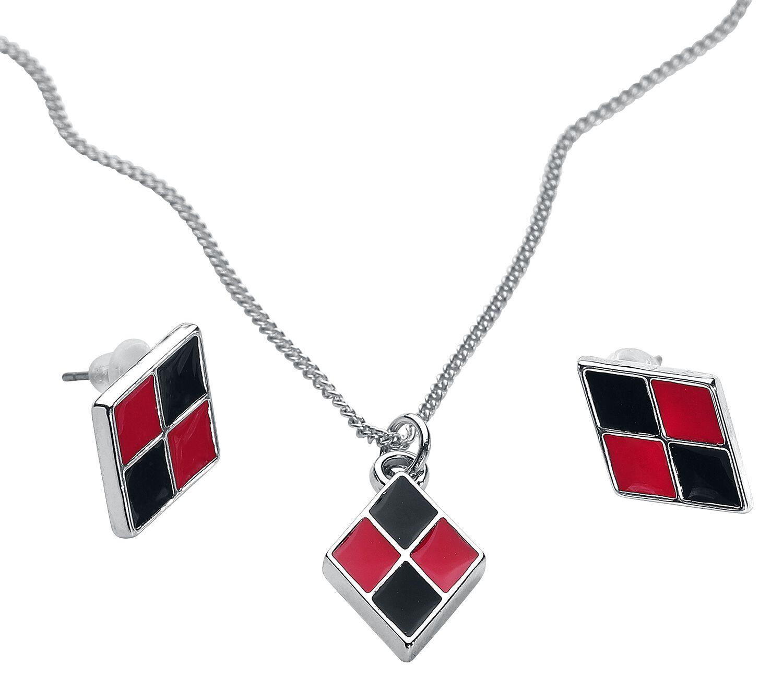 Marki - Biżuteria - komplety - Komplet biżuterii Harley Quinn Diamond Komplet biżuterii czarny/czerwony - 368410
