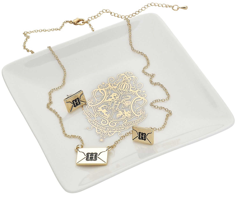 Image of   Harry Potter Brief Smykkesæt guld