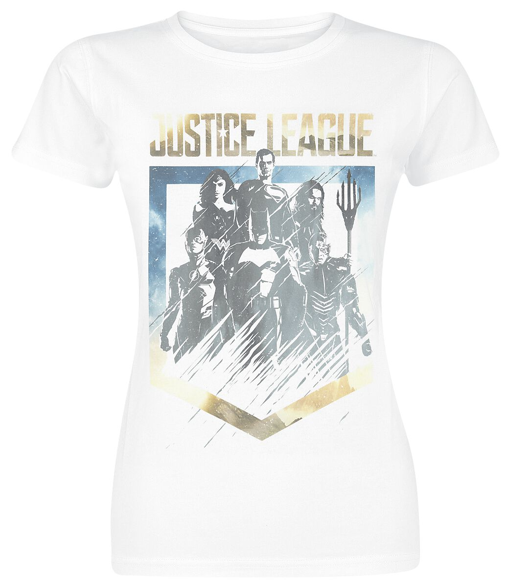 Image of   Justice League Unity Girlie trøje hvid
