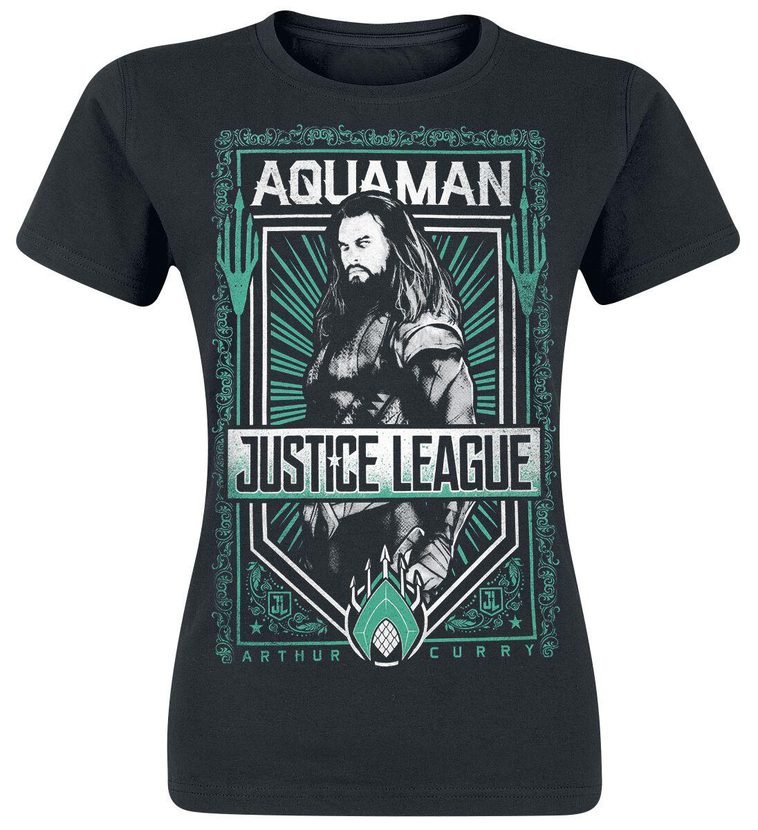 Image of   Justice League Aquaman Girlie trøje sort