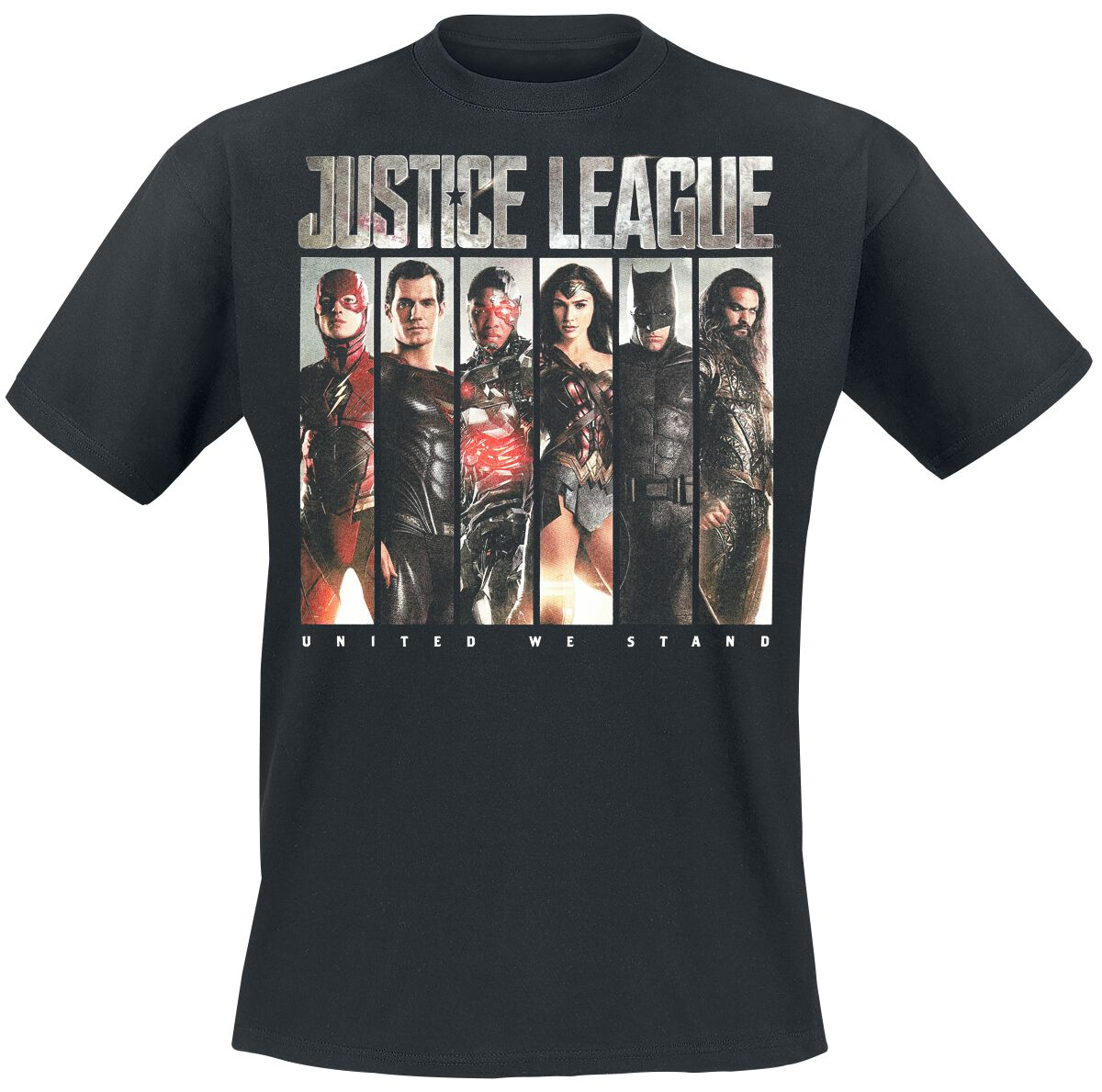 Image of   Justice League Photo Slices T-Shirt sort