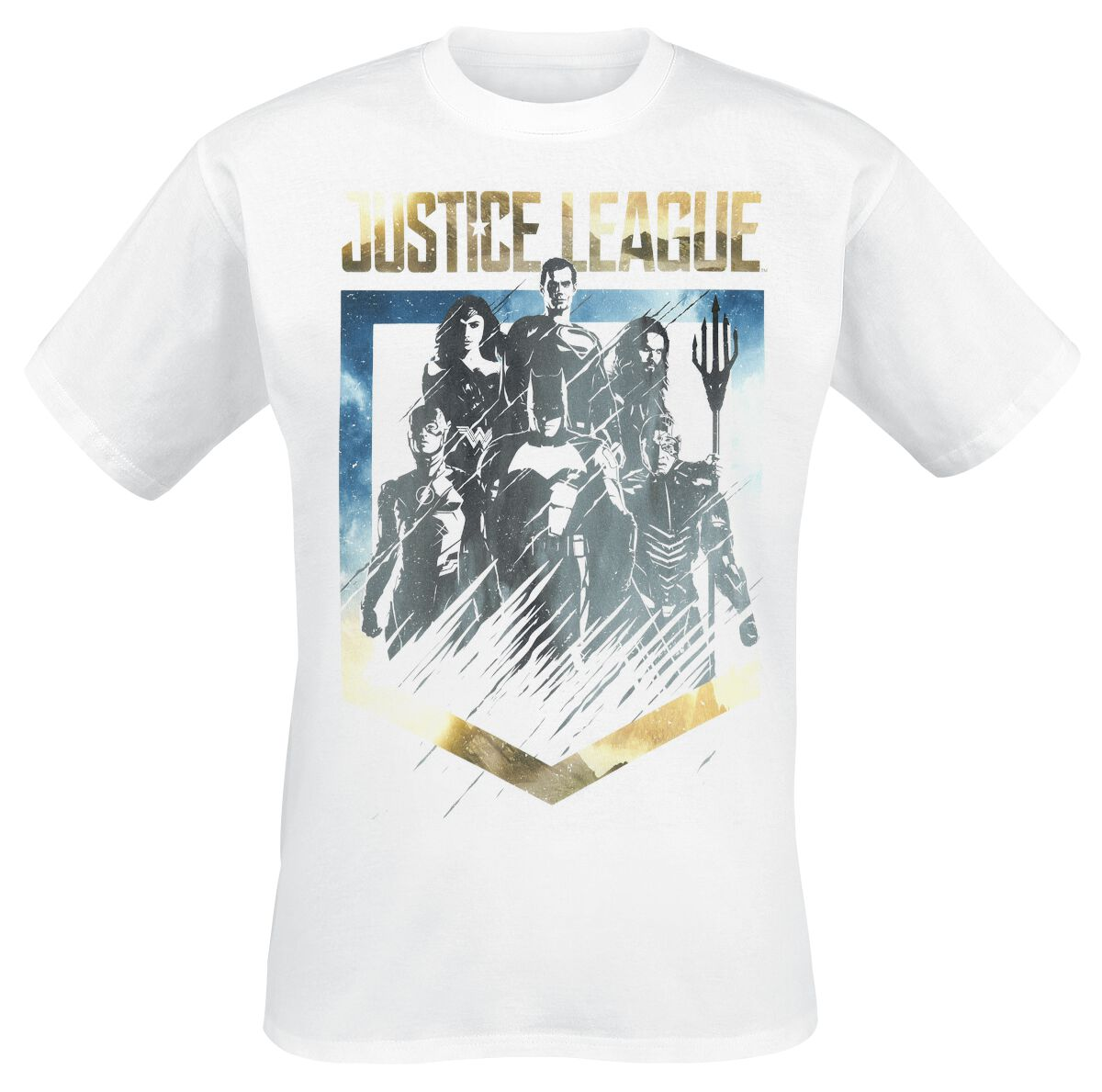 Image of   Justice League Unity T-Shirt hvid