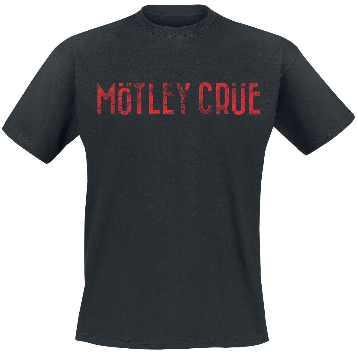 Zespoły - Koszulki - T-Shirt Mötley Crüe Logo T-Shirt czarny - 368521