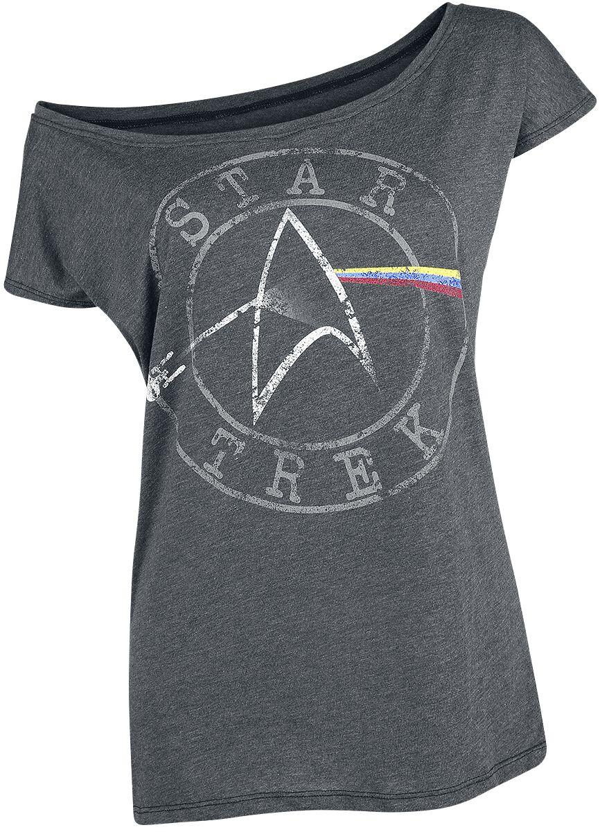Star Trek Space - The Final Frontier Koszulka damska odcienie ciemnoszarego