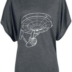 Star Trek Starship T-shirt Femme gris sombre chiné