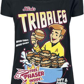 Star Trek Tribbles T-shirt Femme noir