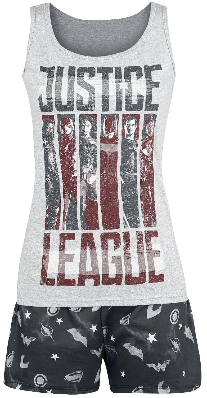 Image of   Justice League Justice Flag Pyjamas grå