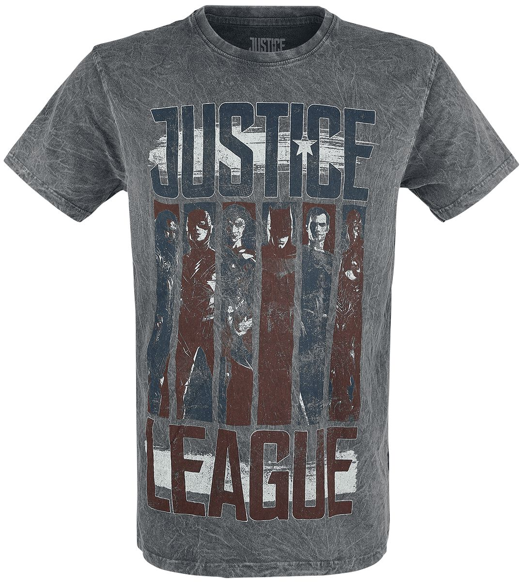 Image of   Justice League Justice Flag T-Shirt grå