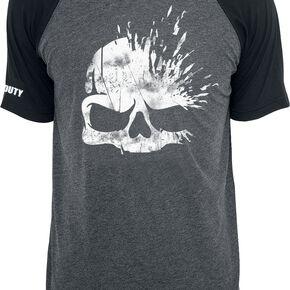 Call Of Duty Skull T-shirt gris chiné/noir