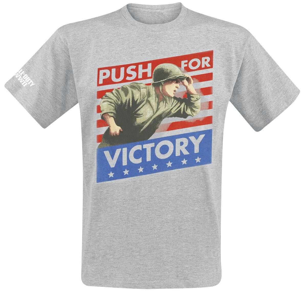 Merch dla Fanów - Koszulki - T-Shirt Call Of Duty WWII - Push for Victory T-Shirt odcienie szarego - 368561