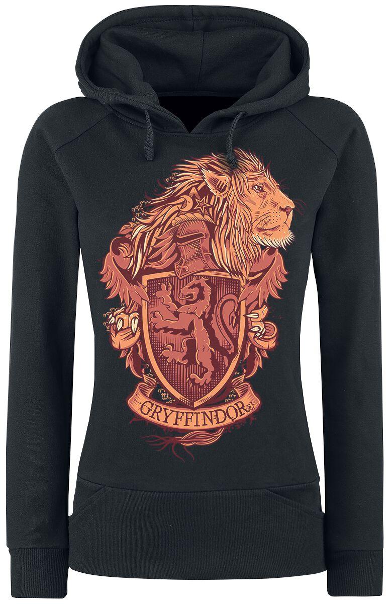 Image of   Harry Potter Gryffindor Girlie hættetrøje sort