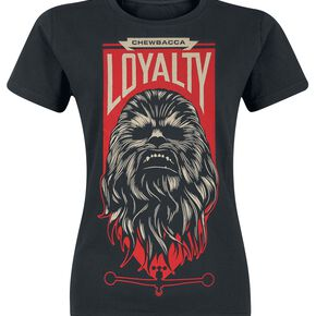 Star Wars Episode 7 - The Force Awakens - Chewbacca Loyalty T-shirt Femme noir